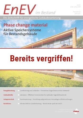 Ausgabe Juli 2013<br>PHASE CHANGE MATERIAL
