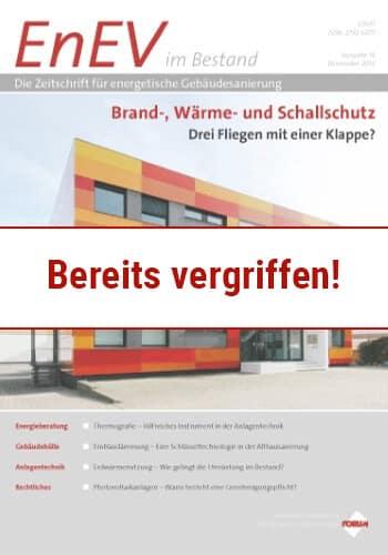 Ausgabe November 2013<br>BRAND-, WÄRME-, UND SCHALLSCHUTZ