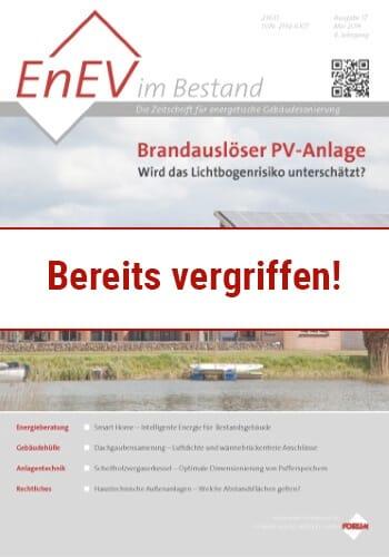 Ausgabe Mai 2014<br>BRANDAUSLÖSER PV-ANLAGE