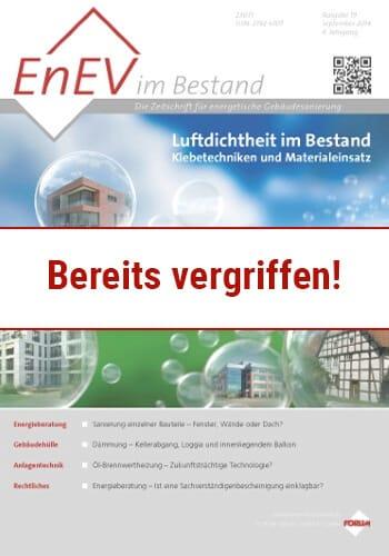 Ausgabe September 2014<br>LUFTDICHTHEIT