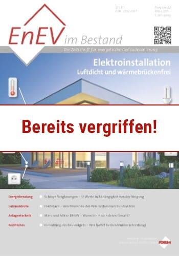 Ausgabe März 2015<br>ELEKTROINSTALLATION