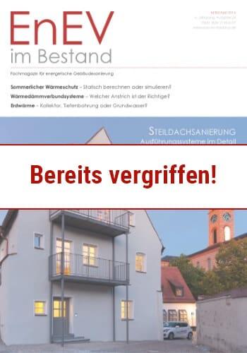 Ausgabe Mär./Apr. 2016<br>STEILDACHSANIERUNG