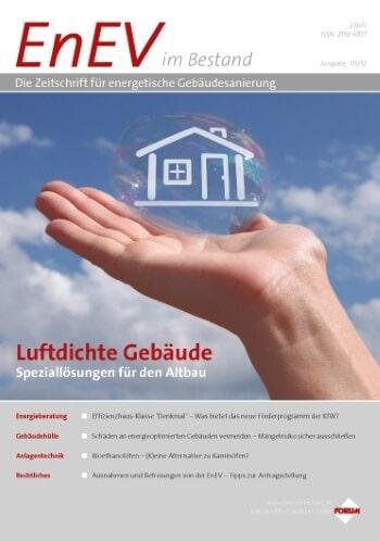 Ausgabe Mai 2012<br>LUFTDICHTE GEBÄUDE