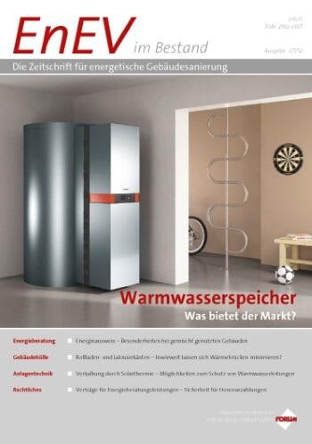 Ausgabe Juli 2012<br>WARMWASSERSPEICHER