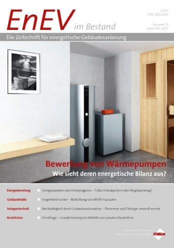 Ausgabe September 2013<br>BEWERTUNG VON WÄRMEPUMPEN