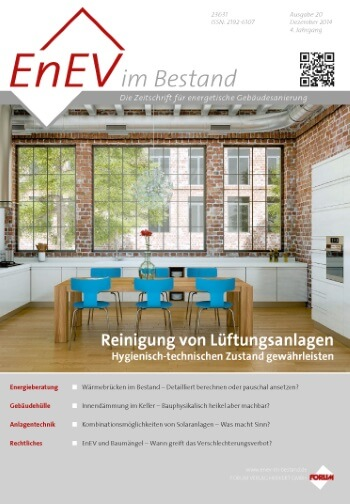 Ausgabe November 2014<br>REINIGUNG LÜFTUNGSANLAGEN