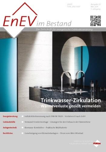 Ausgabe Mai 2015<br>TRINKWASSER-ZIRKULATION