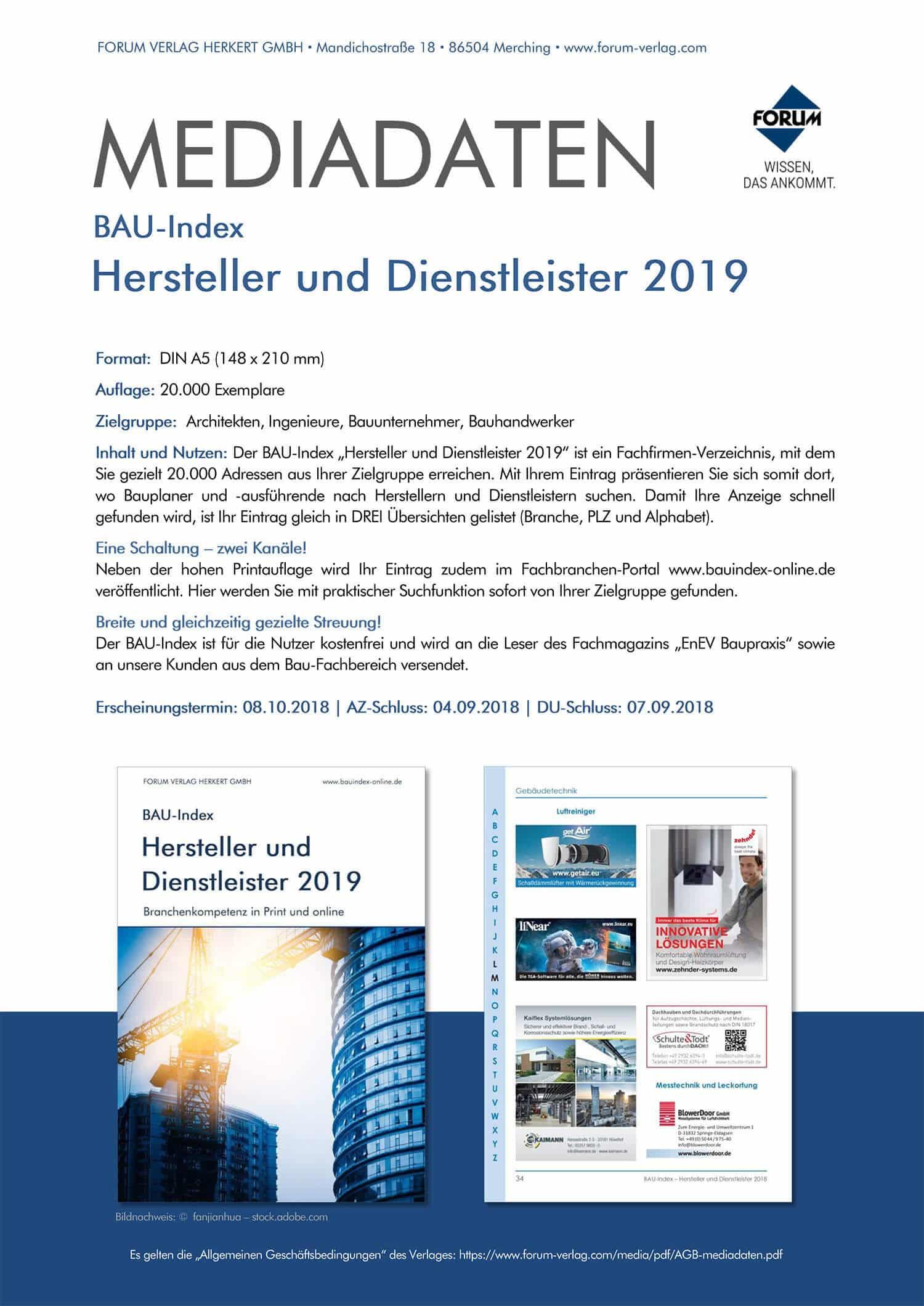 Mediadaten BAU-Index 2019