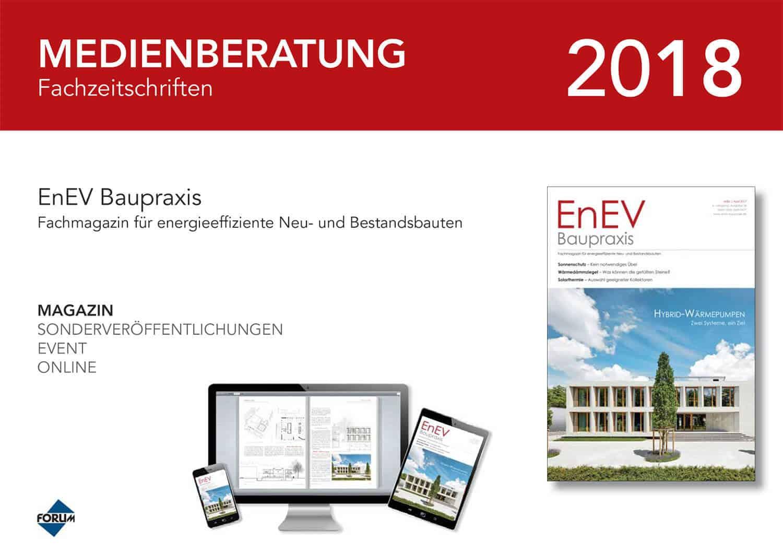 Mediadaten EnEV Baupraxis 2018