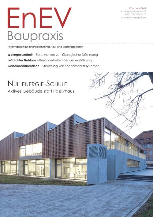 Ausgabe Mär./Apr. 2020<br>NULLENERGIE-SCHULE
